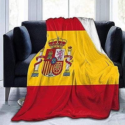 Eileen Powell Bandera de España Manta de Franela Manta de Regazo Suave y cálida Manta de sofá 50 x40: Amazon.es: Hogar