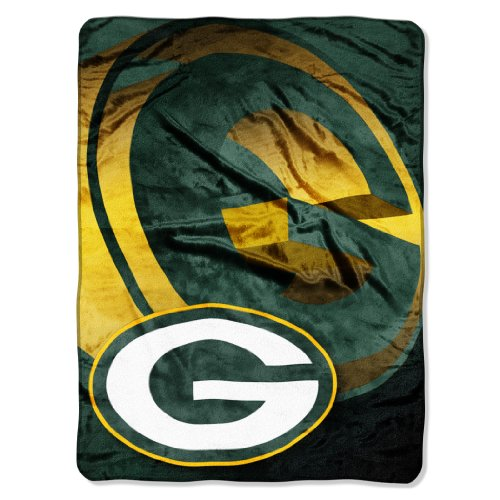 NFL Green Bay Packers 60-Inch-by-80-Inch Micro Raschel Blanket,