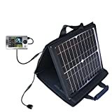 RCA X3030 LYRA Media Player compatible SunVolt Portable High Power Solar Charger by Gomadic - Outlet- speed charge for multiple gadgets