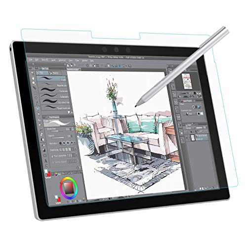 MoKo Paper-Like Screen Protector for Microsoft Surface Pro 6 / Pro 5 (Pro 2017) / Pro 4 / Pro LTE Tablet, Write, Draw and Sketch with The Surface Pen Like on Paper, Anti Reflection PET Film - Clear