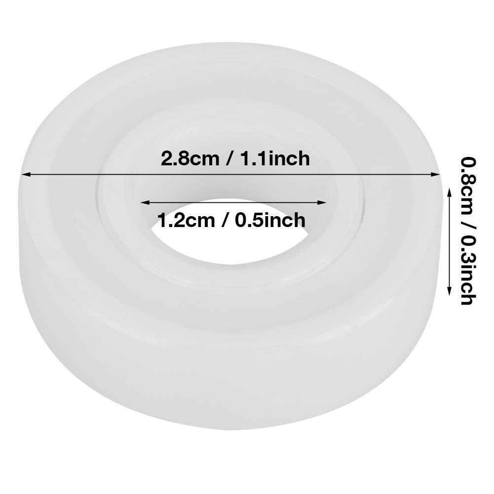 vollkeramisches versiegeltes wei/ßes Farbkugellager ZrO2-Kugellager 2er-Pack Set 6001-2RS 12 * 28 * 8 mm // 0,5 * 1,1 * 0,3 Zoll Hochpr/äzises