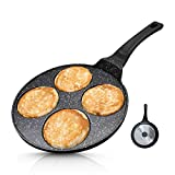 Vinchef Silver Dollar Pancake Pan Nonstick, 4-Mold