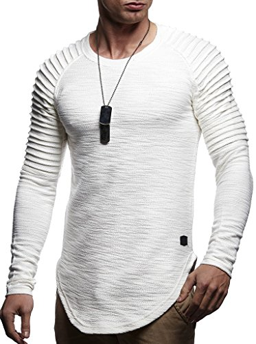 Leif Nelson Mens Pullover Long Sleeve t-Shirt Sweater Slim fit Sweatshirt Hoodie,Ecru,X-Large by Leif Nelson (Image #1)