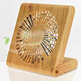 Desk Fan, Small USB Fan, Mini Personal Fan Portable Fan with 3 Speeds Adjustable Powerful Airflow Rechargeable Battery Operated Easy to Store Low Noise for Office Travel Camping Home, Soundance