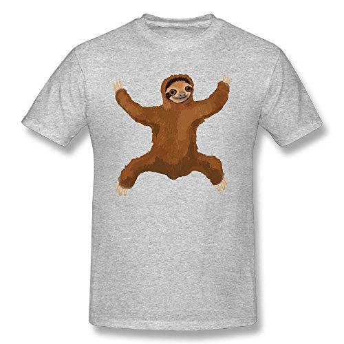 Men's T-Shirts Sloth Love Hug Short Sleeve T-Shirt O-Neck Cotton Summer Tees Tshirt