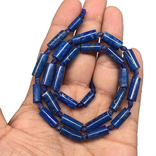 Lazuli Lapis Tube Beads (25.4g, 9mm-16mm Lapis Lazuli Tube Shape Beads Strand from Afghanistan 16