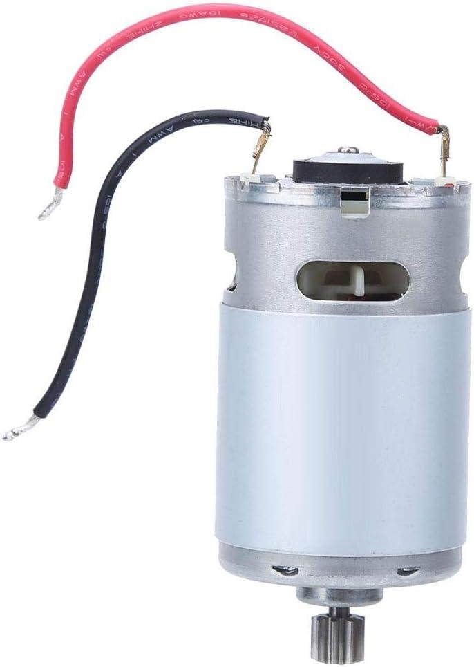 Reemplazo del Motor de Engranaje del V/ástago del Motor El/éctrico de 9 Dientes para Taladro El/éctrico Inal/ámbrico Recargable de Iones de Litio 7.2V