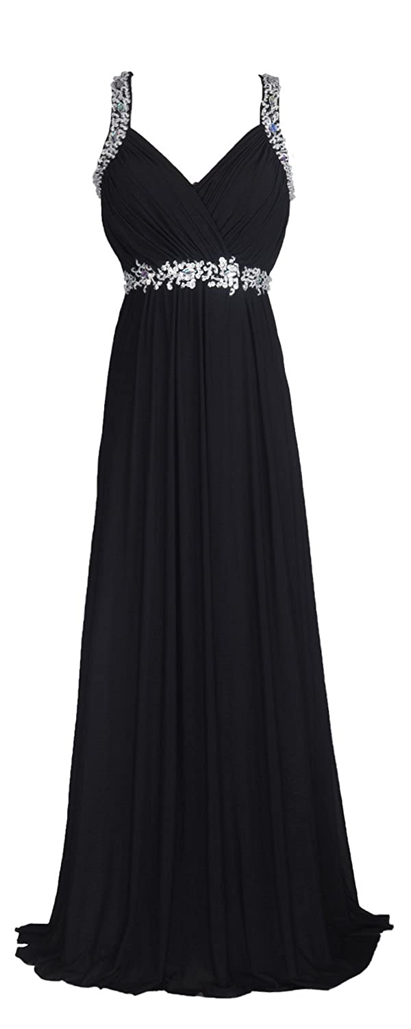1940s Formal Dresses, Evening Gowns History conail Coco Women Ruched Waist Rhinestone Casual Formal Long Wedding Bridesmaid Dress 6002 $49.95 AT vintagedancer.com