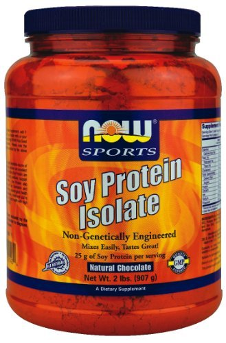 Soy Protein Isolate, Natural Chocolate, 2 lbs (907 g), From Now Foods by NOW