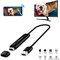 5G WiFi Wireless Display Dongle, Venoro Full HD 1080P HDMI Screen Mirroring Mini Display Adapter Support Miracast/Airplay / DLNA/WIDI for IOS/Android / Mac OS/Win 8.1+ (WD01)
