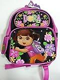 Dora the Explorer Small Backpack Flowers Black School Bag New 053061