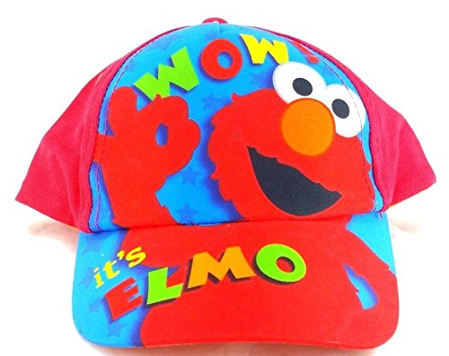 Elmo Hats (Sesame Street Wow! it's Elmo Boys and Girls One Size Red Baseball Cap)