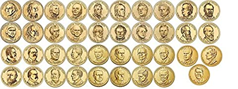 39 D Presidential Dollars set Complete 2007-2016 with Folder Denver MINT Uncirculated - Dollar Coin