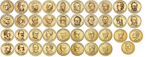 39 D Presidential Dollars set Complete 2007-2016 with Folder Denver MINT Uncirculated - Gold Washington Coin Set
