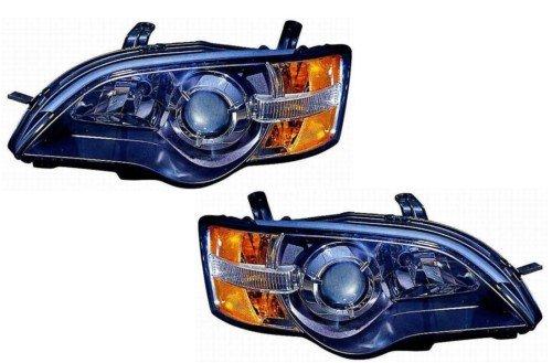 Subaru Legacy Headlight Replacement (Subaru Legacy Replacement Headlight Assembly (Black) - 1-Pair)