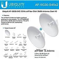 Ubiquiti AF-5G30-S45 2-pack 5GHz airFiber Dish 30dBi Slant 45 pairs