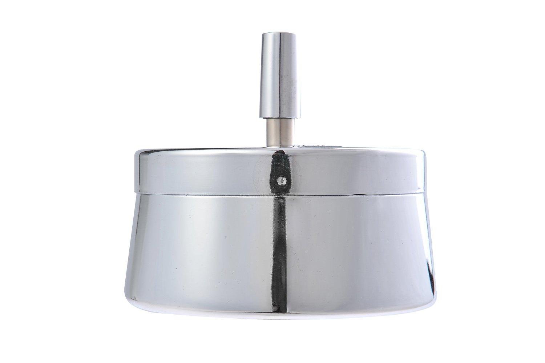 de 118cm de diam/ètre Mod The Khan Outdoor /& Lifestyle Company Cendrier Rond Fait en Alliage de Zinc m/étal Poli DE 779-01