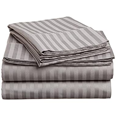 #1 Sheet Set on Amazon - 100% Microfiber Luxury Bedding Collections - HIGHEST QUALITY Fitted and Flat Bed Sheets - Pillowcases - Deep Fitted Pockets - Wrinkle - Fade - Stain Resistant - Great For Bedroom - Vacation Home - Guest Room - RV and Children's Room - Super Soft Silky and Hypoallergenic!, LIFETIME MONEY BACK GUARANTEE (Queen, GREY)