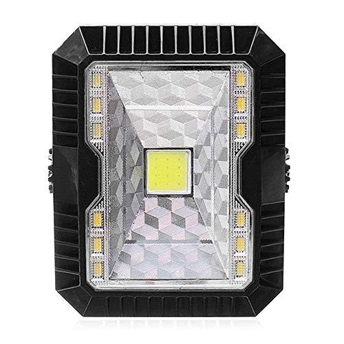 Teepao - Foco Solar de 5 W para Exteriores, portátil, con luz LED, Recarga por USB, 3 Modos, para Colgar, Acampar al Aire...