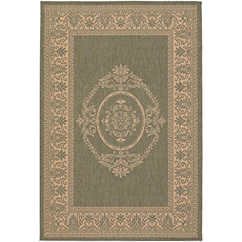 Couristan 1078/1812 Recife Antique Medallion/Green-Natural 7-Feet 6-Inch by 10-Feet 9-Inch Rug - 1812 Rug