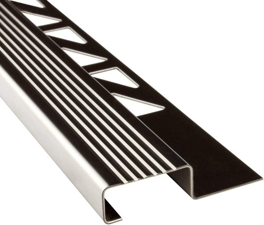 10 x acero inoxidable Nivel Perfil azulejos regleta Perfil Escaleras Carril l250 cm h10 mm brillante 25 mm: Amazon.es: Bricolaje y herramientas