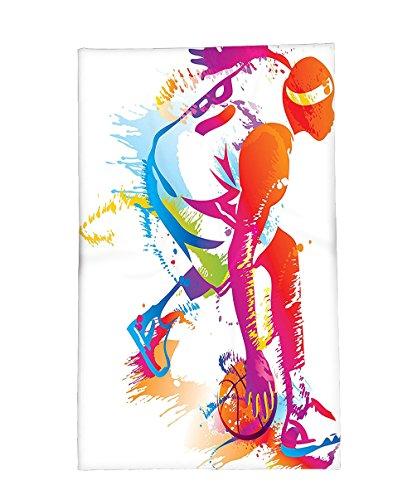 Pointer 2010 Calendar (Interestlee Fleece Throw Blanket Sports Decor Collection Basketball Player Silhouettes Paint Splashes Shooting the Three Pointer Image Orange Magenta Blue)