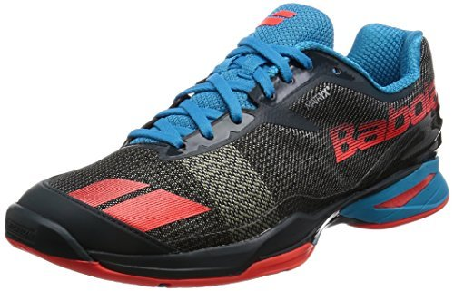 Babolat Men's Jet All Court Tennis Shoes (Grey/Red/Blue) (13 D(M) US)