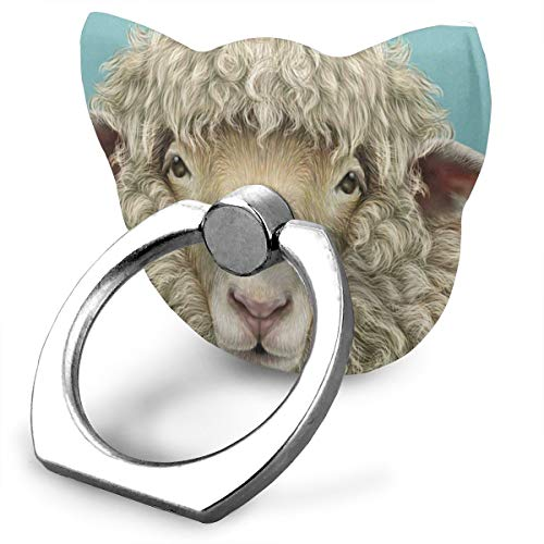 Customized Finger Ring Stand 360Rotation Cute Sheep Portrait Cell Phone Ring Stand Holder Grip Universal Smartphone Ring for iPhone