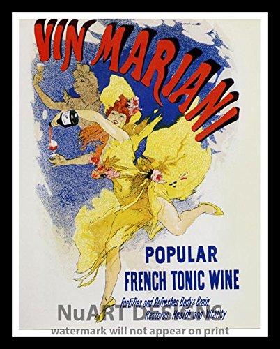 Framed Vintage Art Nouveau Advertisement Reproduction Giclee Poster Vin Mariani Popular French Tonic Wine Buy Online In Aruba At Aruba Desertcart Com Productid 30683437
