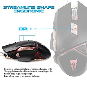 Professional Gaming Mouse 3500DPI Adjustable 8 Buttons Cable USB Mouse Mice for PC Computer Laptop