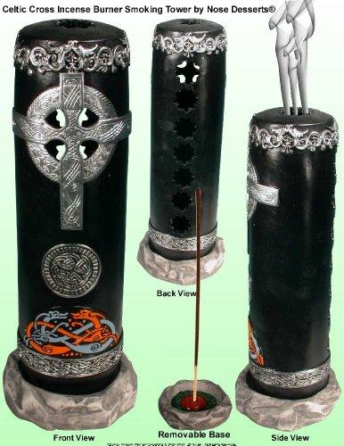 Nose Desserts Celtic Cross Smoking Stick Incense Tower Incense Burner-ashcatcher Brand