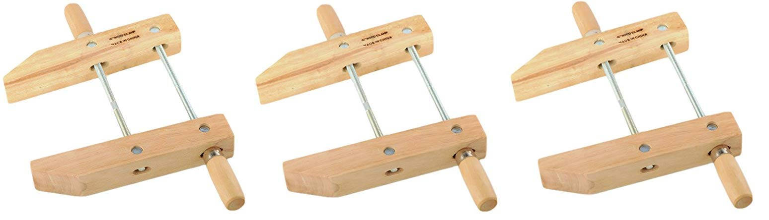 ATE Pro. USA 30143 Wood Handscrew Clamp, 10'' (3-(Pack)) by ATE Pro. USA (Image #1)