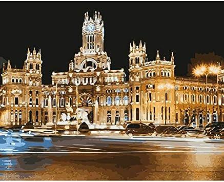 WACYDSD Puzzle 3D Puzzle 1000 Piezas Cuadros De La Pared del Paisaje del Kit De Paisajes De La Capital Española De Madrid: Amazon.es: Juguetes y juegos