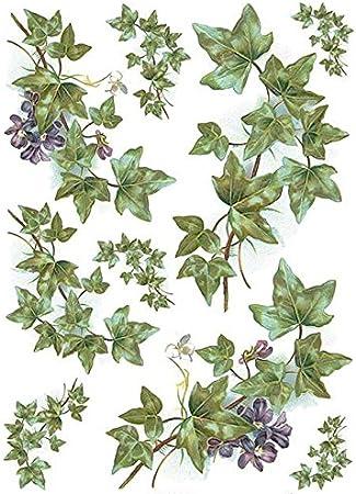 Zita`s Creative Reispapier A4 Vintage Garden Motiv-Strohseide Strohseidenpapier Decoupage Papier
