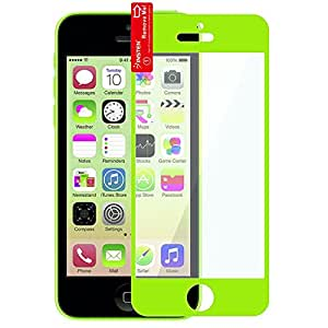 iPhone 5 Screen Protector, Everydaysource® compatible with Apple® iPhone® 5/ 5S/ 5C Green Colorful Frame Color Coated LCD Screen Protector Film Shield Guard Cover