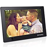 Digital Photo Frame with Motion Sensor 10 inch Jimwey 1080P HD IPS LCD Display Electronic Picture Frame, HD Video/ MP3/ Electronic Photo/ Advertising Display/ Digital Clock/ Calendar