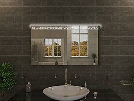 Bagno specchio con illuminazione columbus f107 n1: design specchio