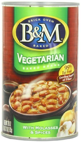 B & M 99% Fat Free Vegetarian Baked Beans, 28 Ounce (Pack of 12) by B&M