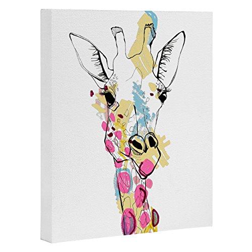 - Deny Designs Casey Rogers, Giraffe Color, Art Canvas, Small, 8
