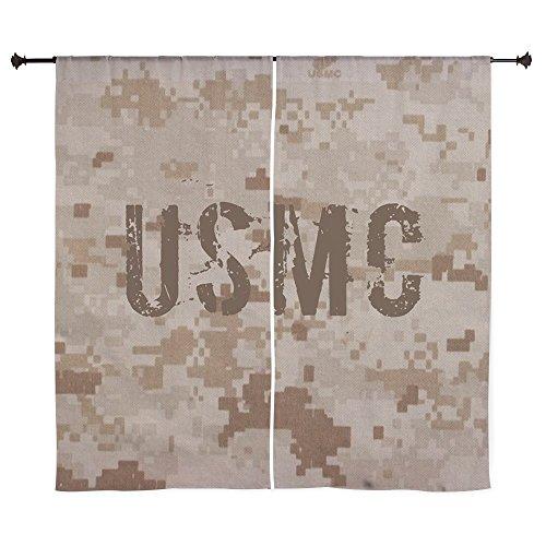 """CafePress USMC Digital Camo Curtains - 60"""" Decorative Win..."""