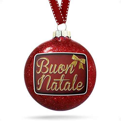 NEONBLOND Christmas Decoration Merry Christmas in Italian from Italy, Vatican City, San Marino Ornament