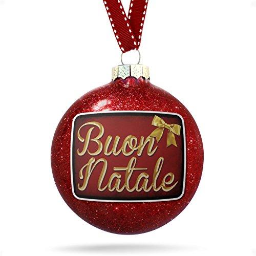 Christmas Decoration Merry Christmas in Italian from Italy, Vatican City, San Marino Ornament