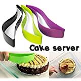 Premier Plastic Kitchen Ergonomic Design Cake Pastry Server Cutter And Slicer,Multicolor