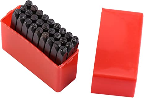 36 Piece Set//A-Z and 0-9 Yosoo Number and Letter Stamp Set 4 mm Craft Steel Metal Leather Punch Stamps Stamper