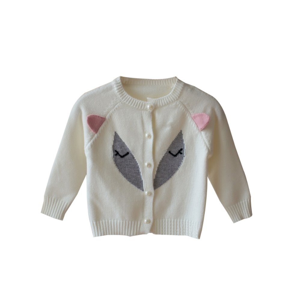 Toddler Baby Girl Cardigan Cotton Fox Candy Infant Knit Sweater