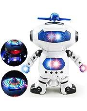 360 Rotating Space Dancing Robot Musical Walk Lighten Electronic Toy Robot