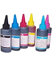6 x100ml High Quality Universal Bulk Ink Refills for Epson, HP, Brother and lexmark Printers to Use refill Cartidges and refillable ink cartridges CISS Systems