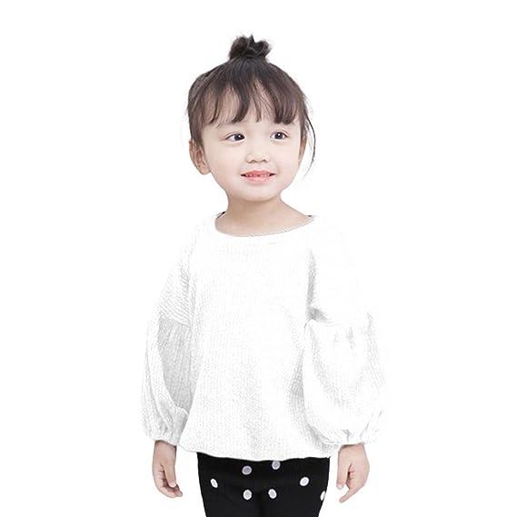 Ropa Bebe Niña Invierno, K-youth® 2017 Manga Larga Camisetas Blusas Sudadera Niña