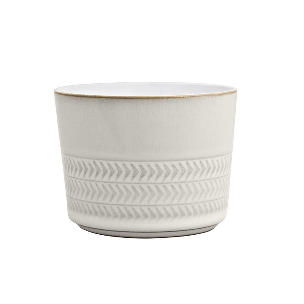 Denby Natural Canvas Textured Sugar Bowl/Ramekin, Cream CNV-041.577