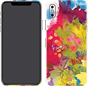 Switch iPhone X Skin Colorful Leaves
